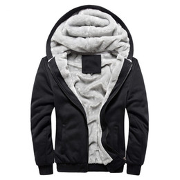Wholesale Discount Winter Jacket - Wholesale-Free Shipping Big Discount Hot Sell Winter Thick Men Fashion Brand Hoodies Sweatshirts Casual Sports Male Hooded Jackets