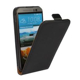 Wholesale Desire V Case - Wholesale-Genuine Leather Flip Case Cover For HTC Desire C X V 526 510 816 310 500 600 SV T326E T328W V X S Z520e One M7 M9 M8 Mini