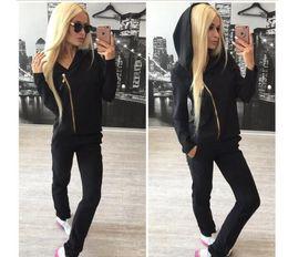 Argentina rosa Chándal de marca Mujer Sport Suit Hoodie sudadera + pantalón Jogging Sportswear Ocio de dos piezas talla S-xl Moletom Chándal cheap pink brand tracksuits Suministro