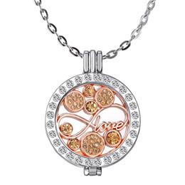 Mi moneda bijoux en Ligne-Mi Moneda Collier Chaînes Bijoux DIY amour 8 colliers lettre creuse pendentif colliers en acier inoxydable boîte de photo pendentif colliers