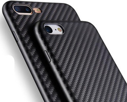 Wholesale Iphone Cover Champagne - Carbon Fiber Case for iphone 7 Plus 6 6S Plus Slim soft TPU back cover shell