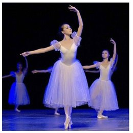 tutu de ballet adulto por atacado Desconto Atacado-New TUTU ballet dress adultos performances de palco de balé cisne branco trajes de balé de fadas