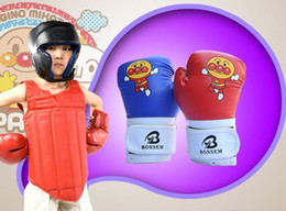 Wholesale Cartoon Train Box - Children Cartoon Sparring MMA Kids Kick Fight Boxing Gloves Training Toys Sporting Kids Boxing