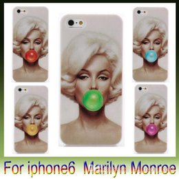 """Wholesale Iphone 5s Marilyn Monroe - For Iphone6 cases -Stylish Marilyn Monroe Blowing balloons Bubble Gum Style Print For Iphone 6 plus 4.7 """" 5.5"""" iphone 5s"""