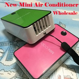 Wholesale Rechargeable Cool Box - New Arrival Hot Mini Cooler Portable USB Rechargeable Hand Held Air Conditioner Summer Cooler Fan with Retail Box 5 Colors