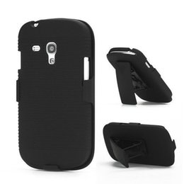 Wholesale Galaxy S3 Hot Cases - Hot Sell Black Belt Clip Swivel Kickstand Holster Case Cover For Samsung Galaxy S3 mini i8190 free ship