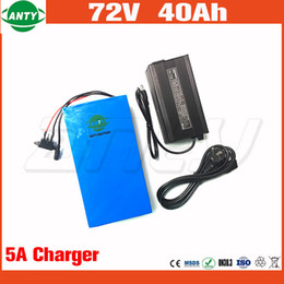 Batterie électrique 72v 40Ah Lithium Scooter batterie 72v 2800w avec 50A BMS 84v 5A chargeur eBike batterie 72v livraison gratuite ? partir de fabricateur