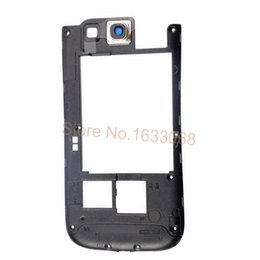 Wholesale New Full Housing Cover - 100% Original New Housing Middle Frame For Samsung Galaxy S3 I9300 Full Housing Lcd Case Cover Case Black White Tracking NO.