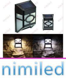 nimi1034 2V 1.5W 2LED Luces de ahorro de energía solar Corredor Patio Hogar Lámpara de pared LED al aire libre Control de luz PC + ABS Iluminación del balcón del pasillo desde fabricantes