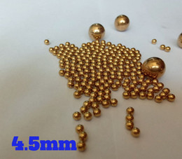 Wholesale Ball Units - 4.5mm Solid Brass (H62) Bearing Balls For Industrial Pumps, Valves, Electronic Devices, Safety Switches, Heating Units and Furniture Rails