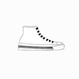 Wholesale Women Shoes Wholesales China - Sample Canvas Shoes White Black Enamel Pins Collar Hat Lapel Pin Brooch For Women and Girls