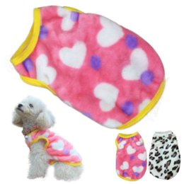 Wholesale Warm Villus - Fashion Pet Cat Dog Villus Clothes For Warm And Winter & Sweet Heart Leopard Pet Vest Clothing pet clothes winter #8056