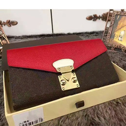 Wholesale Pink Floral Purse - PALLAS women Genuine Leather wallets and purses cluth holder bag handbags famous brands female wallet designer purse high quality