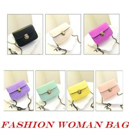 Wholesale Candy Packing Bags - Leisure Bag Candy Chain Ladies Bag Backpack Mobile Phone Pack for Lady Woman Handbag Fashion Out090