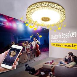 Modren Music Plafonnier, design moderne Nest plafonniers Bluetooth, APP télécommandes gradation intelligent plafonnier, musique ? partir de fabricateur