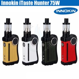 Wholesale Plastic Display Screen - Innokin iTaste Hunter Starter Kit 75W TC BOX Mod with iSub v Atomizer 5ml Tank OLED Display Screen 100% Original Match 18650 Battery