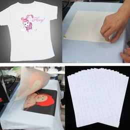 Wholesale Wholesale Shirts For Heat Press - 100 Sheets Inkjet Light Transfer Paper Heat Press A4 Heat Transfer Paper Printing for White Cotton T-Shirt Light Cotton Fabric