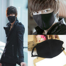 Wholesale Hg Wholesales - Wholesale- 1 Pc Black Health Cycling Anti-Dust Mouth Face Mask Respirator Unisex Fashion Kpop Mouth-Muffle Face Masks HG-1656-BK