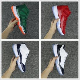 Wholesale Blue Kid Shoes - Wholesale Drop Shipping 2017 Air Retro 11 Miami Hurricanes PE Gym Red Midnight Navy Shoes 11s Low Velvet Mens Womens Kids Basketball Sneaker