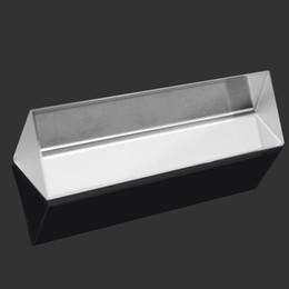 Оптовая продажа-10 см тройной треугольная Призма физика оптическое стекло эксперимент исследования спектра преломления света дисперсия студентов образование от