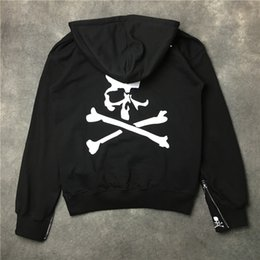 Wholesale Skull Head Sweater - 2017 autumn and winter new European and American tide brand personality skull head print hooded men and women sweater