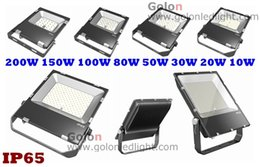 Wholesale Fedex Park - Head IP65 LED flood light 100W 150W 200 watts LED headlight for parking lot yard light garage square lighting Fedex free shipping