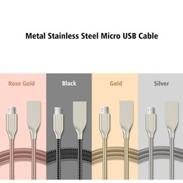 Wholesale Mixed Zinc Alloy Gold - High Quality Micro USB Cable For Xiaomi Huawei HTC Sony Zinc Alloy Soft Flexible Data Wire For Samsung S7 S6 Edge