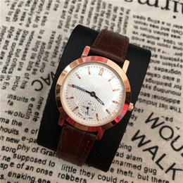 Wholesale thin brown leather belt - 2017 Fashion Top Brand Lover Watch Genuine Leather Casual Watch Women Men Quartz thin mesh belt watches Classic Foreign trade sales Free box