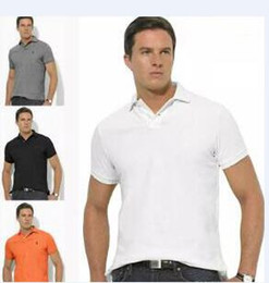 Wholesale Shirt Small - S-6XL Polo Shirt Men Big small Horse crocodile tommy Camisa Solid Short Sleeve Summer Casual Camisas Polo Mens Free Shipping good quality
