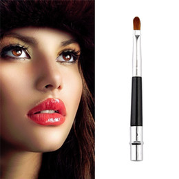 Wholesale Telescopic Lip Brush - Metal Nylon Makeup Brushes Portable Telescopic Retractable Lip Brush Lip Make-Up Brushes High-Grade Aluminum Lip Brush Luxury Exquisite