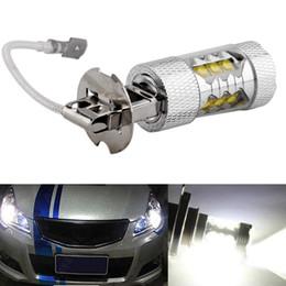 Wholesale Cree Led Turn Light - Power H3 LED Car Light CREE 80W LED Super Bright White Fog Tail Turn DRL Head Car Light Daytime Running Lamp Bulb 12V