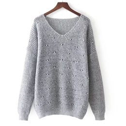Wholesale Rowing Girl - 2017 autumn and winter Europe and America new style women's women's wind mohair pure and V collar sweater girl