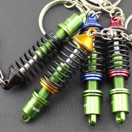 Wholesale Car Suspension Wholesale - Novelty Auto Parts Key Chains Ring Creative Adjustable Suspension Car Keyring keychain jewelry 4 colors