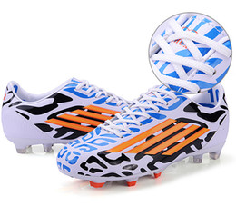 Wholesale Long Shoes For Men - Size 31-44 Mens Sport Soccer Shoes Outdoor Long Spikes FG Football Boots Boys Kids Soccer Sneakers Trainers for Man Shoes NX496
