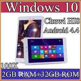"Wholesale China Tablets 32gb - 100X Chuwi HI8 Tablet PC Dual OS Windows 10 & Android 4.4 Dual Boots Bay Trail Z3736F 2GB 32GB Quad Core 8"" 1920x1200 IPS BT OTG 2-8PB"