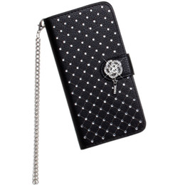 Wholesale Bling Phone Wallets - Luxury Bling Rhinestone Diamond Leather Flip Wallet Case For iPhone 5 5S SE 6 6S 7 8 Plus X Stand Card Phone Case
