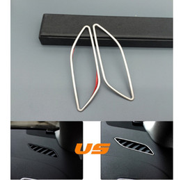 Wholesale Frames Decorative - Car front air conditioning vents frame decorative cover trim interior air outlet Stainless steel strip for Audi A4 B8 A5