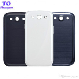 Wholesale Galaxy S3 Logo - Wholesale - 50pcs Back Housing Battery Cover for Samsung Galaxy S3 SIII i9300 Battery Door plastic case skin whit full logo