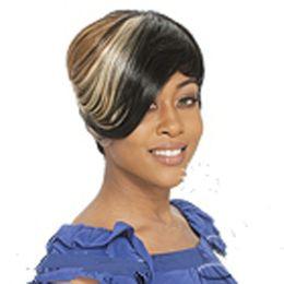 Cosplay perucas mulheres on-line-Moda Elegante Cor Mix Curto Em Linha Reta Mulher Cabelo Colorido Peruca Terno para o Partido e Cosplay perucas Sintéticas