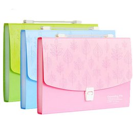 Wholesale Cute A4 Folder - Wholesale-Multilayer Cute Plastic Organ Bag Folder Expanding Wallet A4 Document Bags Business Filing Products 7 Layers