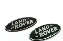Wholesale Sports 3d Car Sticker - Car styling Aluminum Land Rover LR3 Sport Range Rover Discovery Front Grille Emblem Black Oval Badge