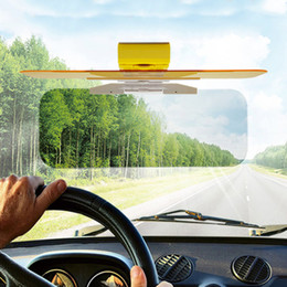Wholesale Clear Windshield - 50Pcs HD Car Sun Visor Goggles For Driver Day & Night Anti-dazzle Mirror Sun Visors Clear View Dazzling Goggles Interior Accessories ZB0273