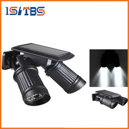 Wholesale Driveway Led Light - 14LEDs LED Solar Lamp PIR Motion Sensor Dual Head Spotlight Adjustable Waterproof Wall Light for Yard Garden Driveway