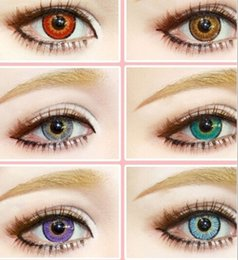 Wholesale Color Eyes Lens - US Stock Snow Tricolor 3-tone Fresh Color Blends Contact Lenses Crazy Lens   6 Colors Free Shipping Ready In Stock