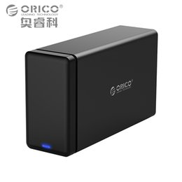 Wholesale Hdd Dock Orico - ORICO 2 Bay Aluminum Hard Drive HDD Dock Enclosure USB3.0 to SATA3.0 3.5 in HDD Case Support UASP 12V4A Power MAX 20TB Capacity