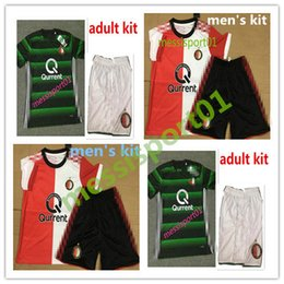 Wholesale TOP QUALITY New Feyenoord Rotterdam Soccer jersey men s kit shirt KUYT VILHENA Home adult kit football shirt