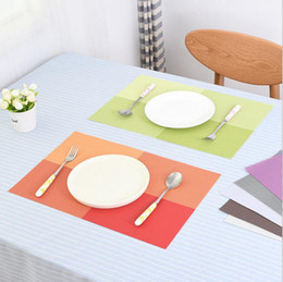 Wholesale Tea Table Mats - PVC Dining Table Placemat Europe Style Kitchen Tool Tableware Pad Coaster Coffee Tea Place Mat OOA2485