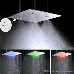 500  8mm led rain shower head rainfall dual showers and ceiling Dropshipping Led Ceiling Mounted Rain Shower Head UK Free