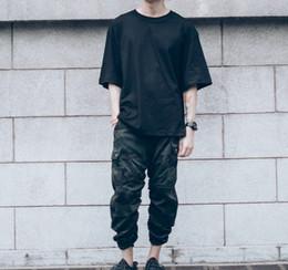 Wholesale Designer Urban - Wholesale-Chinos Kanye joggers designer urban Hip Hop Clothing Mens Capri Ankle Camouflage jumpsuit Men Cargo Pants japanese Fashion Camo