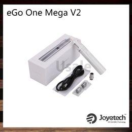 Wholesale Mega V2 - Joyetech eGo ONE Mega V2 Starter Kit 2300mah Battery 4ml eGo One mega V2 Atomizer New CL Pure Cotton Coil Head 100% Original